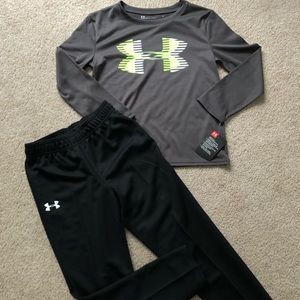 Boys size 6 under Armour Outfit NWT